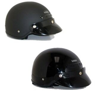 Deluxe Motorcycle Half Helmet (As Is Item)