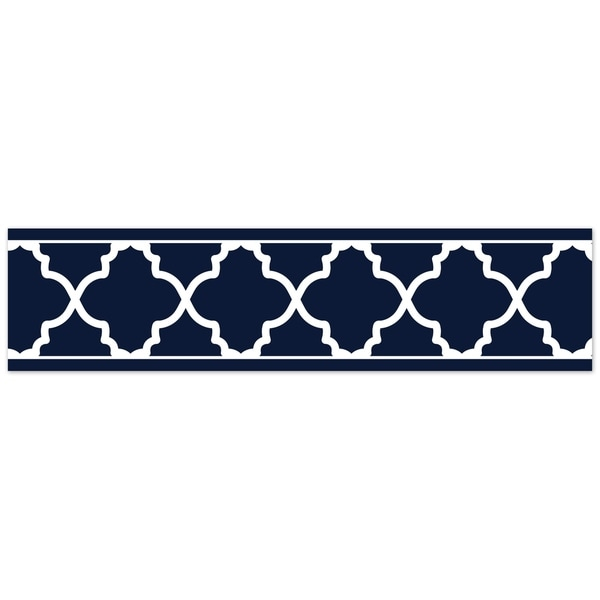 Shop Sweet Jojo Designs Navy And White Trellis Collection Wallpaper
