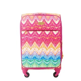 Macbeth Collection Chevron Purple 21-inch Carry Spinner Suitcase - 21in