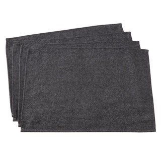 """Wool Blend Placemats With Tweed Design (Set of 4) - 14""""x20"""""""