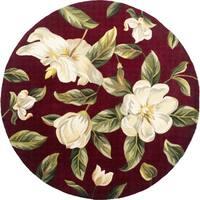 KAS Catalina Red Magnolia Round Rug - 5'6