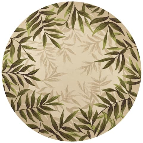 Domani Trails Tropical Border Indoor/Outdoor Rug