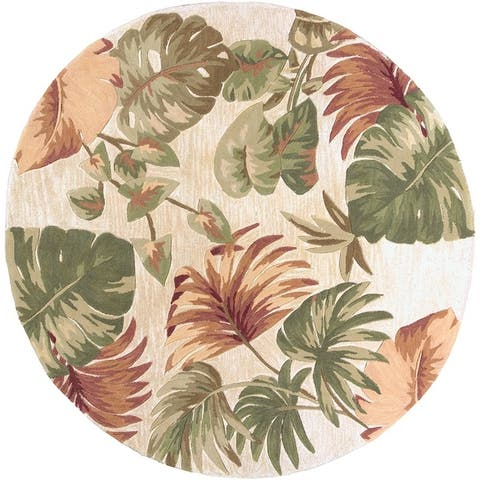 Porch & Den Hand-tufted Wool Palm Leaves Area Rug