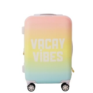 Macbeth Collection Vaycay Vibes Pink 21-inch Carry On Hardside Spinner Suitcase - 21in