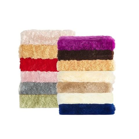 De Moocci 25m Pile Ultra Soft/Fluffy Fauxfur Blankets