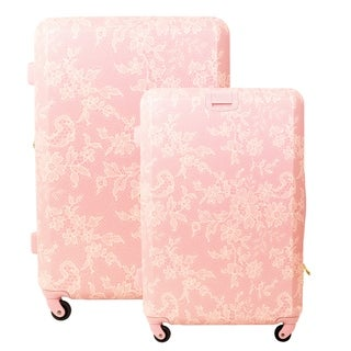 Macbeth Collection Lace 2-piece Hardside Spinner Luggage Set