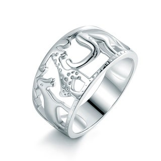 Rhodium Plated Animal Shape Cocktail Ring