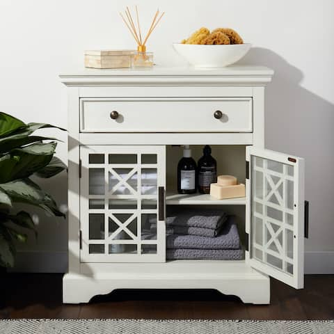 Abbyson Susan White Wood Storage Chest