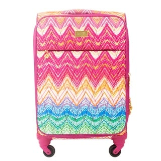 Macbeth Chevron Purple 29-inch Spinner Suitcase
