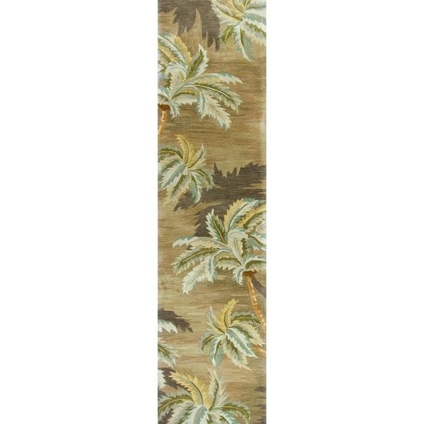 Shop Kas Sparta Moss Palm Trees Runner Rug 2 6 X 10