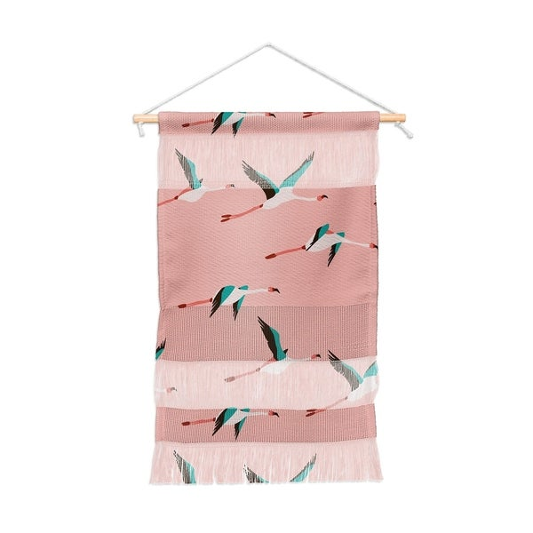 Holli Zollinger Flamingo Pink Portait Wall Hanging Tapestry