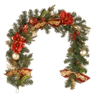 National Tree Company 6' Holiday Christmas Decorative Garland with Ornaments and Bows