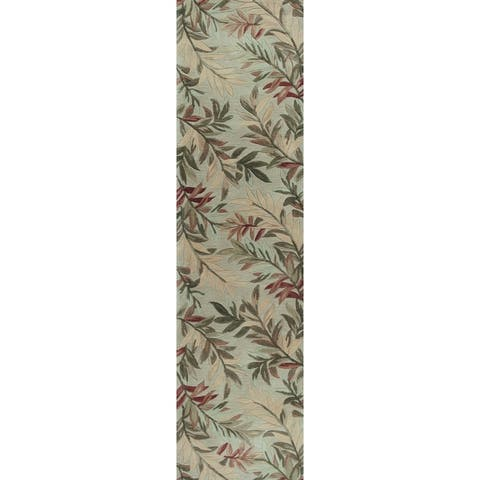 KAS Sparta Tropical Branches Rug