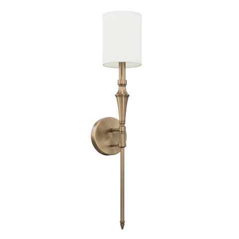 Traditional 1-light Aged Brass Wall Sconce