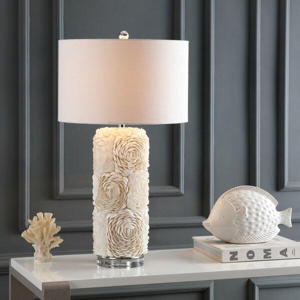 Shop Rosette 28 5 Quot Seashell Resin Crystal Led Table Lamp