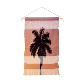 Chelsea Victoria Palm Sunset Portait Wall Hanging Tapestry