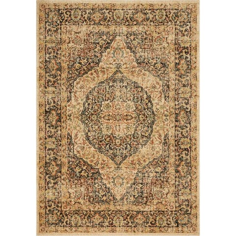 Copper Grove Innkreis Distressed Medallian Rug