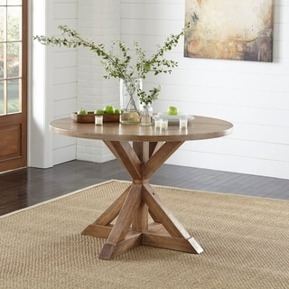 Simple Living Charlotte Pedestal Dining Table - Brown