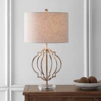 "Celia 27.5"" Metal LED Table Lamp, White Wash  by JONATHAN  Y"