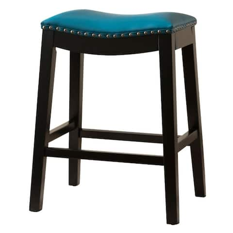 Copper Grove Divjake 29-in. Bonded Leather Saddle Bar Stool