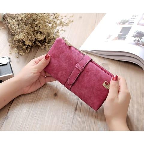 Faux Suede Womens Wallet