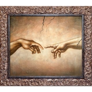 Michelangelo 'Creation of Adam (detail)' Hand Painted Oil Reproduction