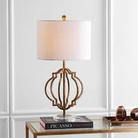 "Celia 27.5"" Metal LED Table Lamp, Antique Gold  by JONATHAN  Y"