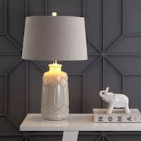 "Alice 26"" Ceramic LED Table Lamp, Cream  by JONATHAN  Y"