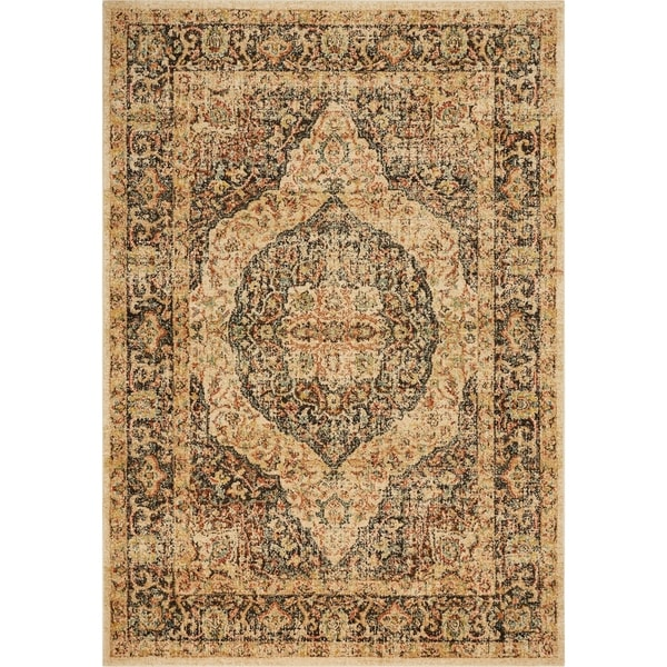 Kas Cordoba Traditional Mocha Brown Vintage Antigua Area Rug 9 X27