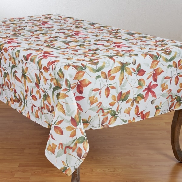 Fall Leaves Design Tablecloth With Rich Pattern