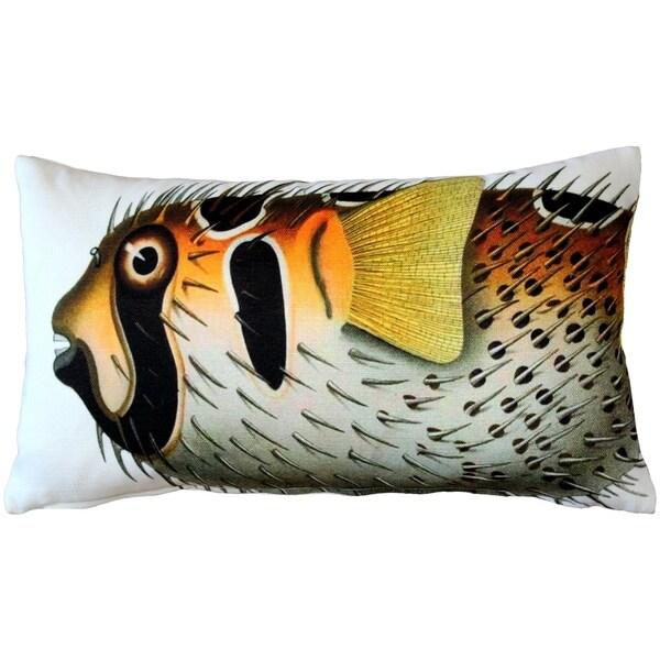Pillow Decor - Porcupinefish Fish Pillow 12x20
