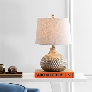"""Link to Bates 22"""" Honeycomb LED Table Lamp, Antique Brown  by JONATHAN  Y Similar Items in Table Lamps"""