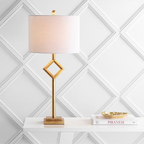 """Juno 30.75"""" Metal/Resin LED Table Lamp, Gold Leaf by JONATHAN Y"""