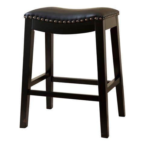 Copper Grove Divjake 26-in. Bonded Leather Saddle Counter Stool