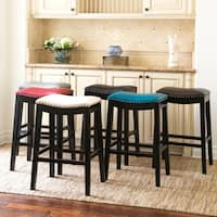 Abbyson Chapin 26 inch Bonded Leather Saddle Counter Stool