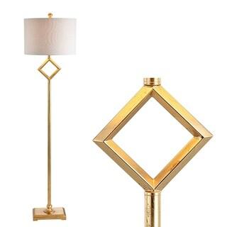 """Juno 62.5"""" Metal LED Floor Lamp, Gold Leaf by JONATHAN Y"""
