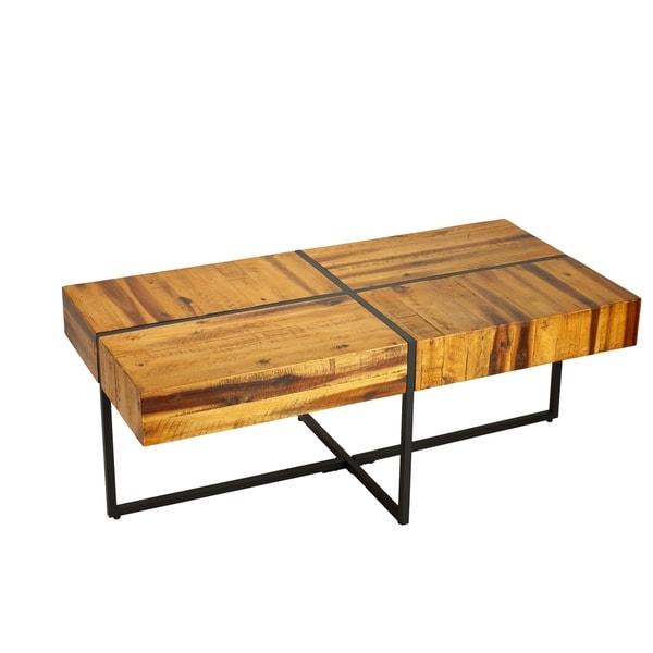 Black Solid Wood Coffee Table: Shop Cortesi Home Landon Coffee Table, Solid Wood With