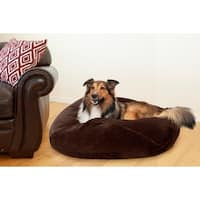 FurHaven Pet Bed | Round Plush Ball Dog Bed