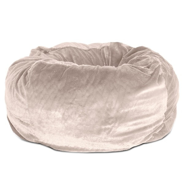 Incredible Shop Furhaven Pet Bed Round Plush Ball Dog Bed Free Squirreltailoven Fun Painted Chair Ideas Images Squirreltailovenorg
