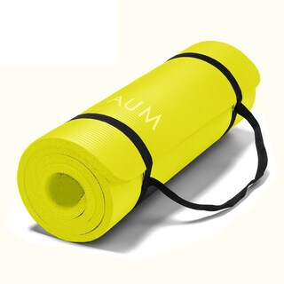 AUM High Density HD Foam Tech Yoga Exercise Mat 72 x 24 x 1/2-inches