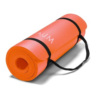 AUM High Density HD Foam Tech Yoga Exercise Mat 72 x 24 x 1/2-inches