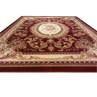 """Rug Tycoon Oriental Traditional Red Rug - 5'3""""x7'2""""rectangular"""