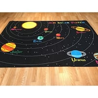 "Rug Tycoon Ornamental Kids Tween Black Rug - 7'11""x9'10""rectangular"