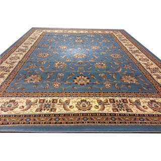 "Rug Tycoon Oriental Traditional Blue Rug - 2'7""x14'6""rectangular runner"