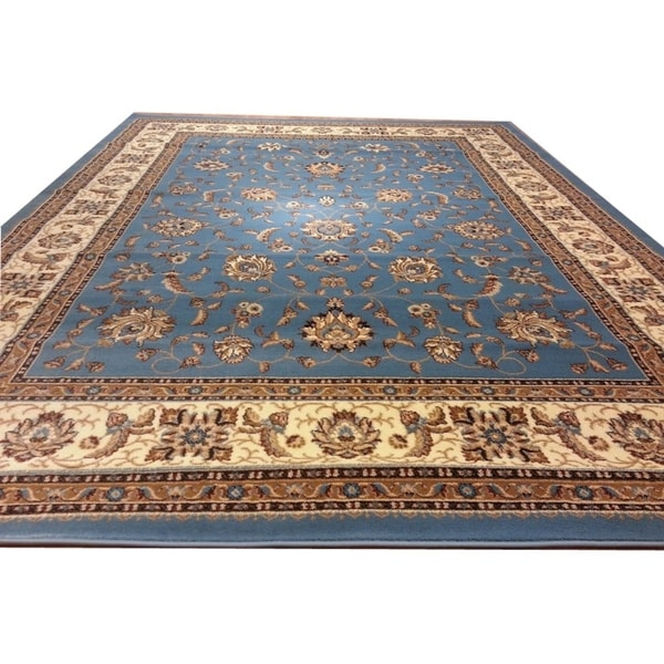 "Rug Tycoon Oriental Traditional Blue Rug - 2'7""x14'6""rectangular runner"
