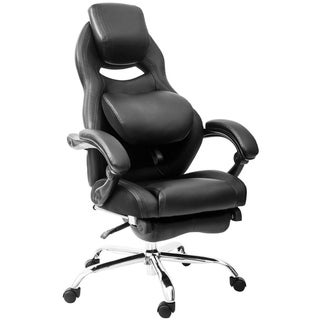 Merax Inno Series Racing Style High Back Gaming Chair with Adjustable Pivoting Lumbar and Padded Footrest