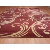 """Rug Tycoon Abstract Modern Contemporary Red Rug - 10'0""""x13'0""""rectangular"""