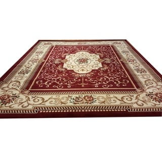 """Rug Tycoon Oriental Traditional Red Rug - 7'11""""x9'10""""rectangular"""