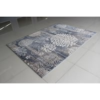 "Rug Tycoon Abstract Modern Contemporary Grey Rug - 5'3""x7'2""rectangular"