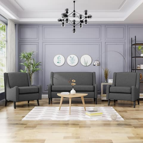 Edgemont Contemporary Loveseat Chat Set by Christopher Knight Home
